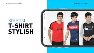 Kaos Casual Pria & Pakaian Pria & Kaos Oblong Lengan Panjang & T-Shirt Distro - H02B - TC 3017 M -