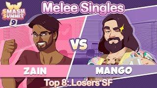 Zain vs Mang0 - Top 8 Losers Semifinal: Melee Singles - Smash Summit 9 | Marth vs Falco
