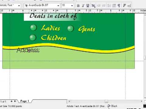 Creating a visiting card in corel draw part 3 youtube creating a visiting card in corel draw part 3 reheart Gallery
