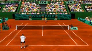 Roland Garros 1998 PC - Gameplay / Exhibition / Alesi vs Gombas