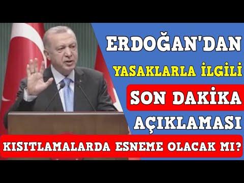Cumhurbaşkanı Erdoğan'dan yasaklarla ilgili son dakika açıklaması
