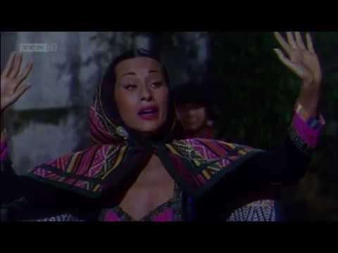 "Yma Sumac's performance in ""Secret of the Incas"" (1954)"