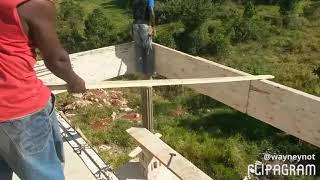 My Jamaican dream house Part 4 2nd floor ( Building a house in Manchester Jamaica )