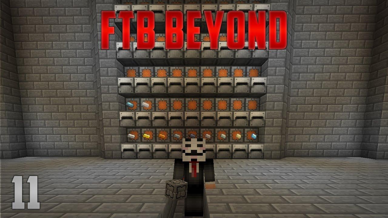 FTB Beyond EP11 Ore Processing + Mass Quantum Storage