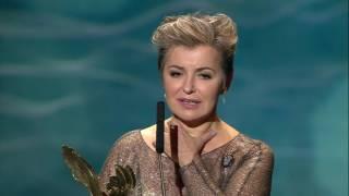 Orły 2017 - Aleksandra Konieczna odbiera nagrodę w kategorii