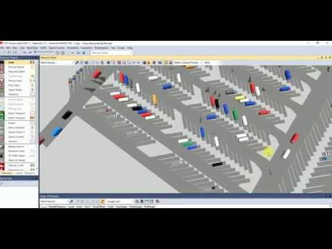 3D visualization of parking terminal model in traffic microsimulation software VISSIM