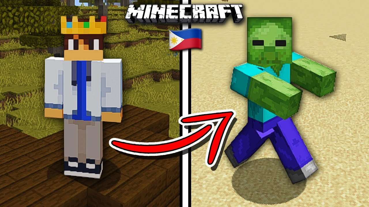 Beating MINECRAFT as a Zombie... (Tagalog)