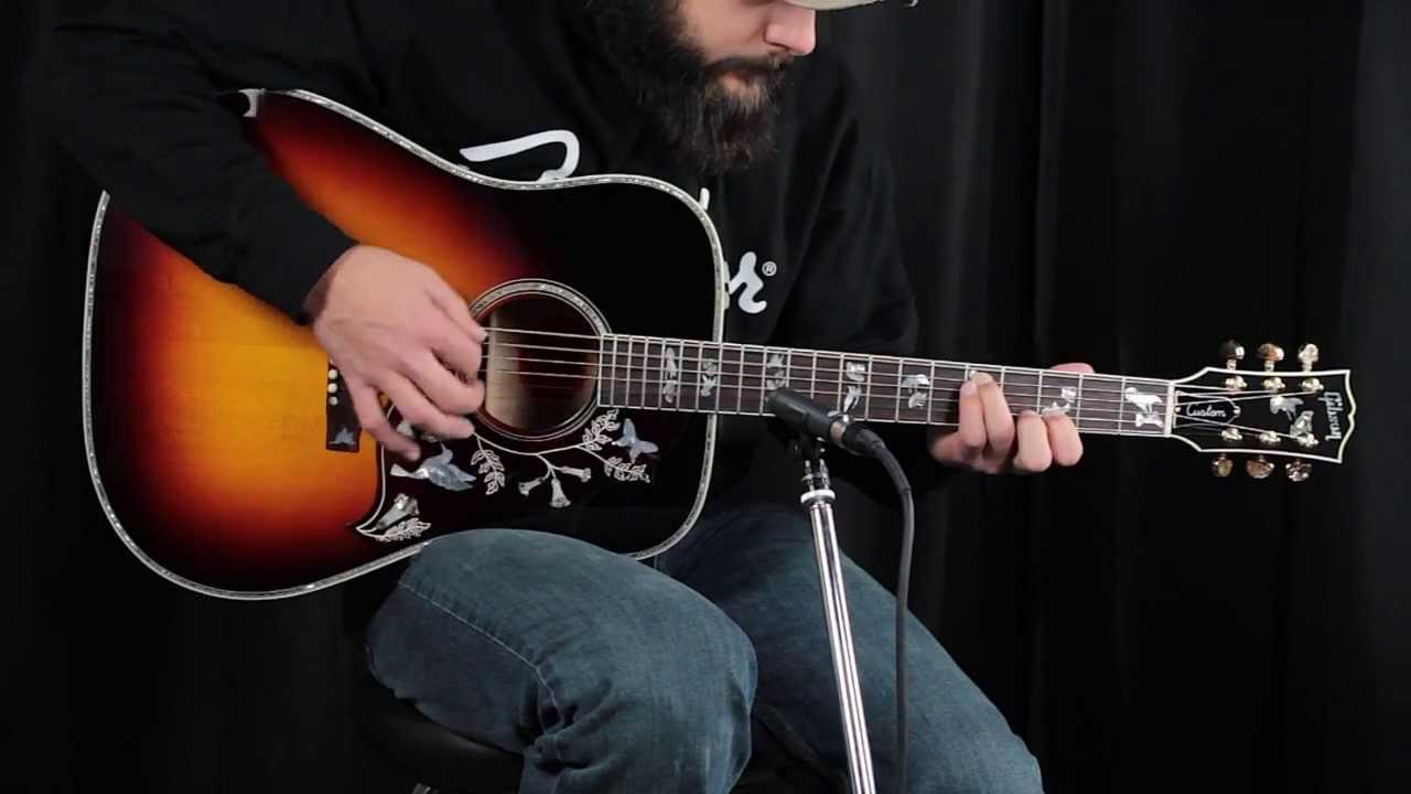 Gibson Hummingbird Quilted Maple Ltd Youtube