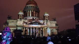 Фестиваль света в Санкт-Петербурге. Световое шоу 2016