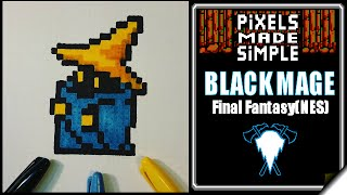 Pixels Made Simple-Black Mage Final Fantasy(NES)