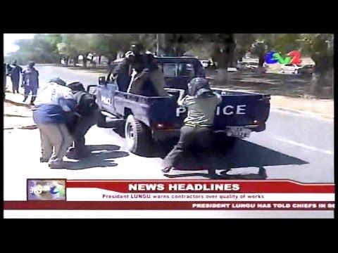 ZNBC  TV  2  News   Zambia   16th Aug 2015   Chongwe  PF Member of Parliament Sylvia Masebo arrested