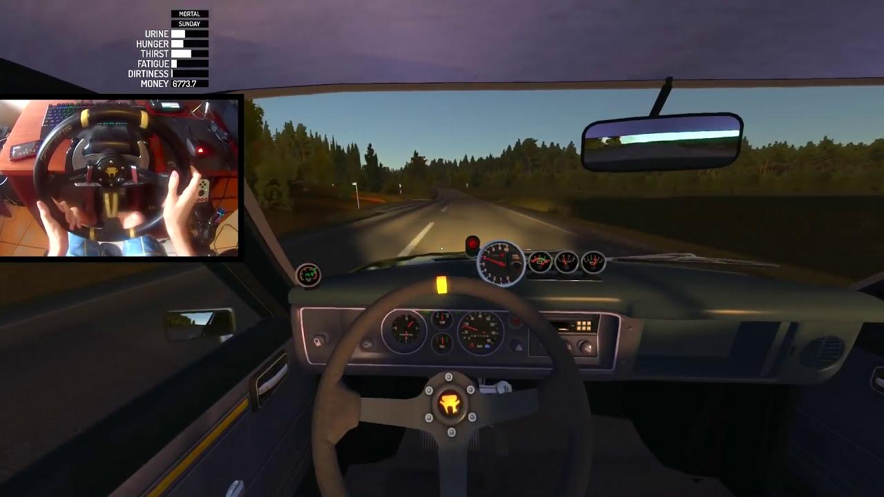 My Summer Car - Carro Baixo + Rodas Aro 17 + 240km/H!! #49 (G27 Mod)   Getaway Driver 34:44 HD