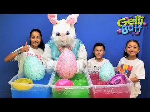 Easter Egg Hunt Surprise Toys In Gelli Baff Kids Pretend Play