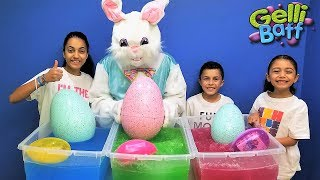 Easter Egg Hunt Surprise Toys In Gelli Baff Kids Pretend Play