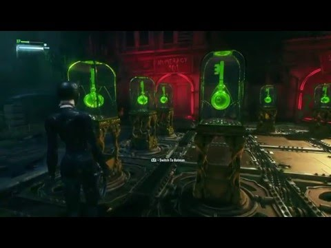Batman Arkham Knight - Riddlers Puzzle to get 2nd key of Cat woman - PART 1 [SPOILER]
