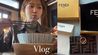 Vlog.일상 브이로그, 첫 명품지갑 펜디 하울(Fen…
