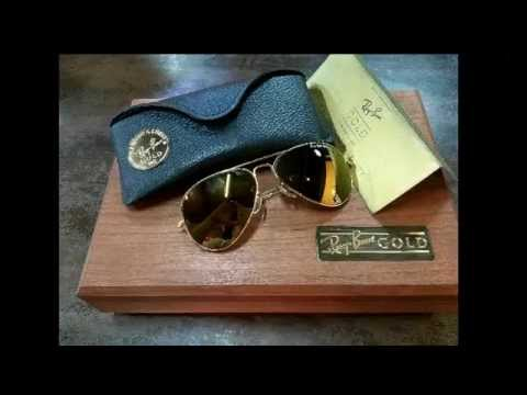 a52ecf315d VINTAGE RAY BAN GOLD 14K BAUSCH   LOMB USA - YouTube