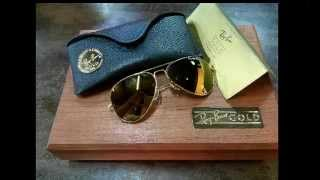VINTAGE RAY BAN GOLD 14K BAUSCH & LOMB USA