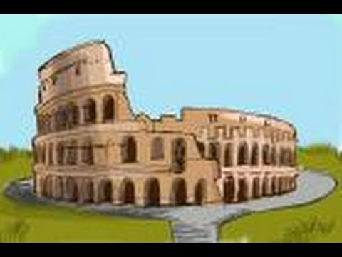 How To Draw A Colosseum Coliseum Youtube