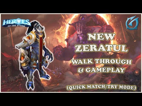 Grubby | Heroes of the Storm - New Zeratul - Walk-through and Gameplay - QM - Infernal Shrines