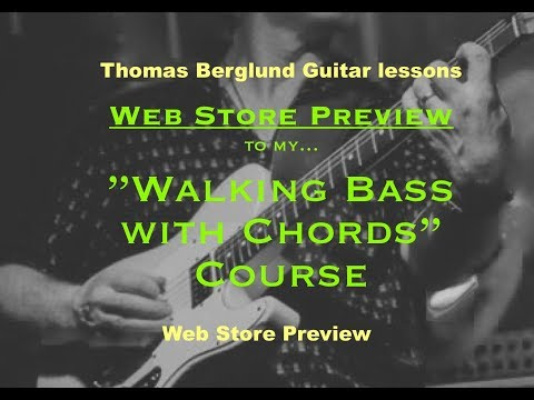 """""""Walking bass with chords"""" course - Web store preview"""