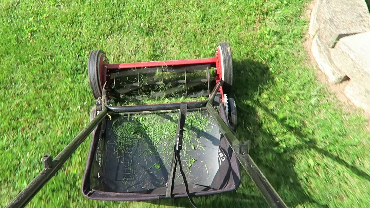Mowing Lawn With A Craftsman Reel Mower