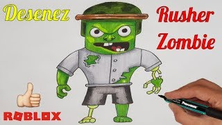 🧟ROBLOX ROMANIA - Desenez si Colorez 🕹️How to Draw Rusher Zombie🧟