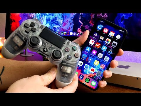 How To USE A PS4 CONTROLLER On iPhone & iPad iOS 12 - PLAY MFI GAMES & EMULATORS! nControl