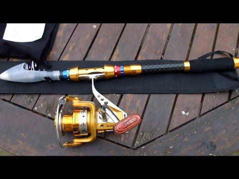 Unboxing Telescopic Fishing Rod And Reel Combo Full Kit (LIXADA) 50$ 🔥🔥🔥