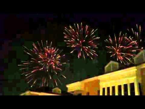 Firework in Venetian villege Abu Dhabi