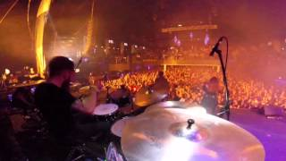 'King' by Eluveitie live in Moscow (2016) [Drum Cam]