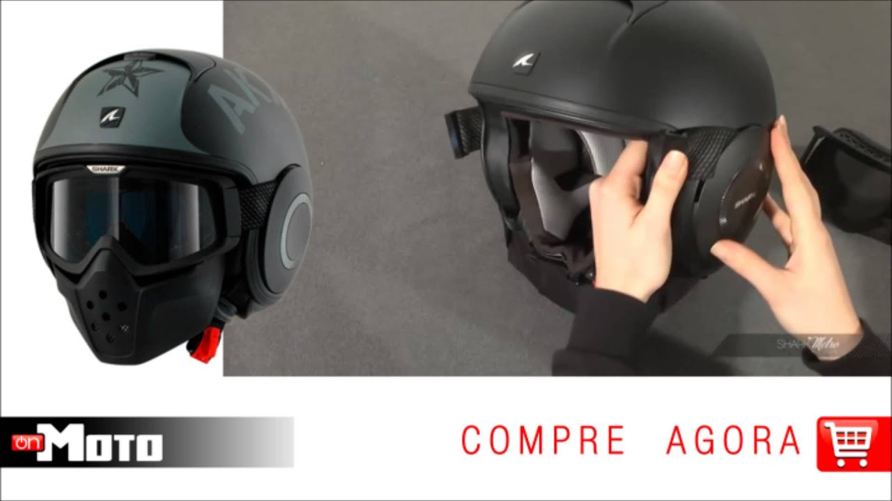 630ca2fb3bc09 Capacete Shark RAW - OnMoto! - YouTube