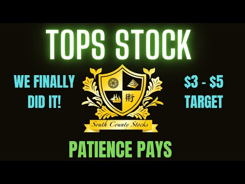 TOPS STOCK | Top Ships Finally Hit Our Profit Targets | We Did it!