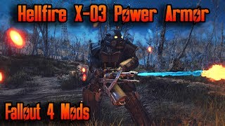 Fallout 4 Mods - Hellfire X-03 Power Armor (Power Armor Mod)