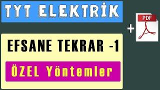 TYT Elektrik Efsane Tekrar -1  PDF  Harflendirme, Elektrik Akımı