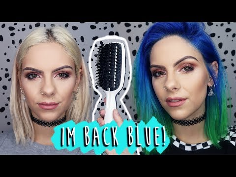 FROM BLONDE TO BLUE OMBRE HAIR ft. Tangle Teezer | ad