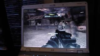 Cod6 MW2 Multiplayer Gameplay on HP Pavilion dv6768se laptop nvidia 8400GS