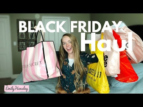 Black Friday Haul 2018 | Victoria Secret, PINK, Forever 21, Charlotte Russe, American Eagle, etc
