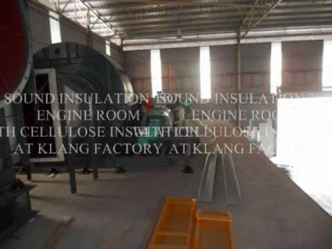 CELLULOSE INSULATION - INDUSTRIAL NOISE CONTROL