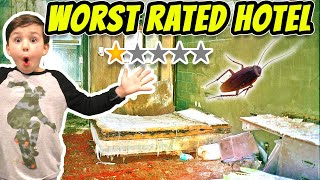 Staying in the Worst Reviewed Hotel in New York City! (Roach Found)