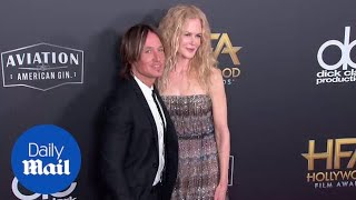 Nicole Kidman and Keith Urban at the 2018 Hollywood Film Awards