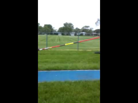 My first time pole vaulting