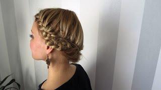 Как плести косичку по кругу. Схема - How to weave braid around. scheme