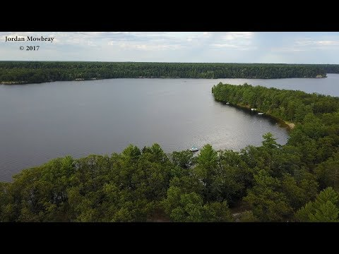 Aerial Drone View of Old Orchard Campground Oscoda Michigan