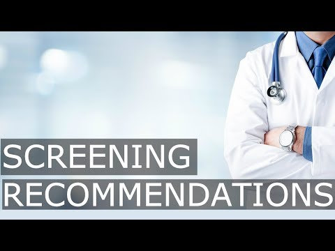 Preventive Health Screenings for males