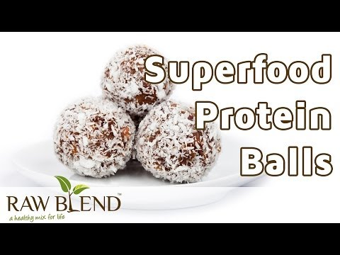 How to Make Bliss Balls (Raw Superfood Protein Recipe) in a Vitamix 5200 Blender by Raw Blend