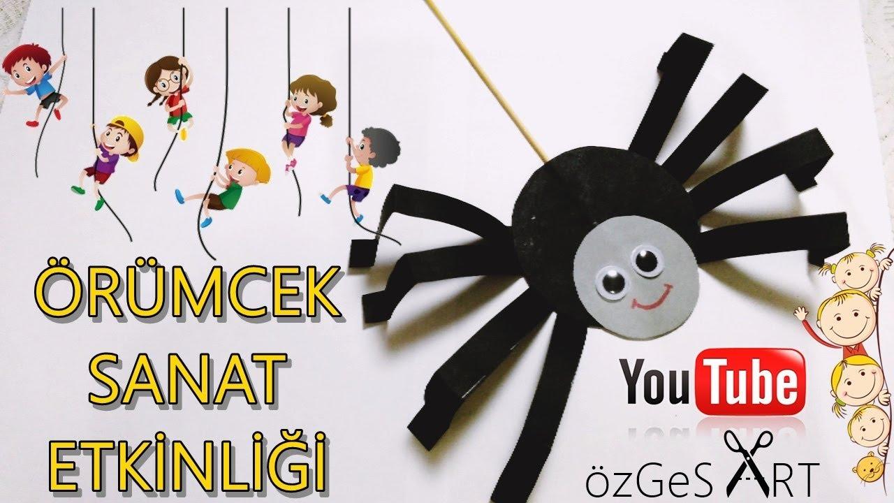 Orumcek Sanat Etkinligi Diy For Kids Spider Craft Okul Oncesi