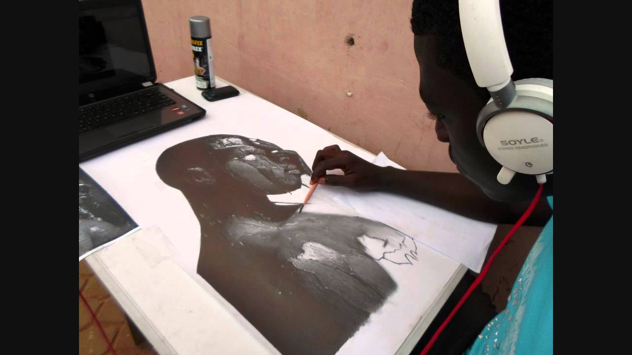 Pencil drawing stages of shower time and nelson mandela www theopencil com