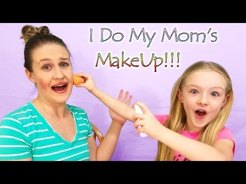 5 Year Old Trinity Does Mom's MakeUp!! thumbnail