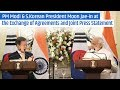 PM Modi & S.Korean President Moon Jae-in at the Exchange of Agreements and Joint Press Statement